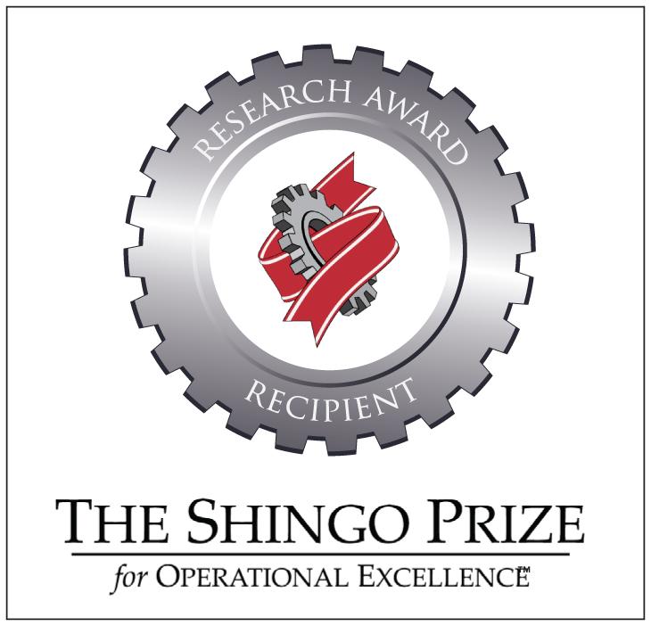 shingo prize award Challenge for the shingo prize shingo recipients  the shingo prize research award  articles discover the shingo model.
