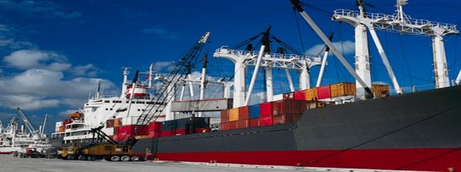 Cargo Ship at Wharf